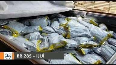 Mais de 700kg de agrotóxicos foram apreendidos em Ijuí - Material de origem chinesa era contrabandeado do Paraguai.