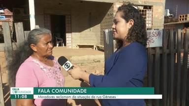 Fala comunidade: moradores reclamam da situação da rua Gênesis no Cinturão Verde - As obras de pavimentação da via estão inacabadas