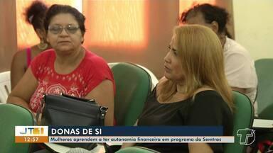 Mulheres aprendem a ter autonomia financeira através de projeto da Semtras, em Santarém - Curso mostrou a mulheres outra alternativa de garantir renda; veja na reportagem.
