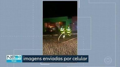 Homem joga carro contra parede de casa e residência pega fogo em Lagoa de Itaenga - Caso ocorreu por causa de ciúmes.