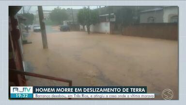 Alagamentos e deslizamentos de terra são registrados no Sul do Rio - Levy Gasparian e Três Rios ficaram afetadas em dois dias de fortes chuvas na região.
