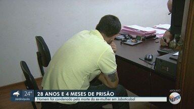 Justiça condenou homem que matou a mulher ao lado da filha em Jaboticabal,SP - O crime foi há quatro anos. Marcos Soncino Soares estrangulou e deu uma facada no pescoço da mulher dele.