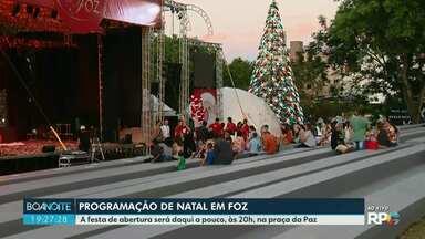 Começa a programação de Natal em Foz do Iguaçu - A festa de abertura e os espetáculos vão ser na praça da paz.