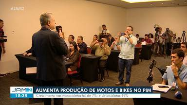 Aumenta produção de motos e bikes no Polo Industrial de Manaus - Crescimento nas motocicletas foi de 7%.