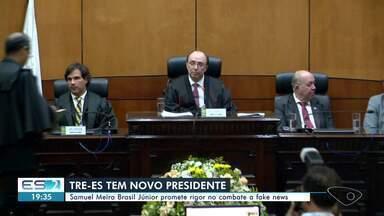 Desembargador Samuel Meira Brasil Júnior assume a Presidência do TRE-ES - O vice e Corregedor Regional Eleitoral, para o biênio 2020/2021, é o desembargador Carlos Simões Fonseca.