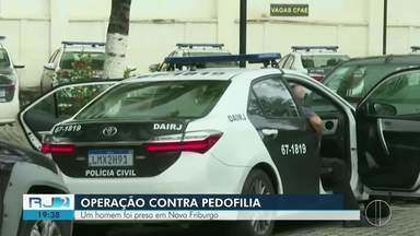 Polícia Civil faz operação contra pedofilia e cumpre 81 mandados de busca e apreensão - Uma das prisões ocorreu em Nova Friburgo, no RJ.