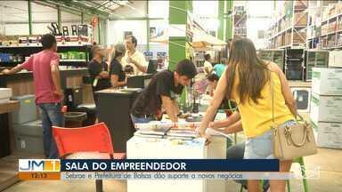 Número de empreendedores individuais cresce nos últimos anos no Maranhão - Para incentivar a abertura de novas empresas, a prefeitura de Balsas e o Sebrae abriram a sala do empreendedor, para dar suporte a esses novos negócios.