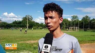 Garotos participam de seletiva para jogar na base do Funorte - Candidatos selecionados vão disputar campeonatos pelo time.
