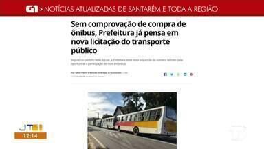 Em comprovação de compra de ônibus, prefeitura já pensa em nova licitação é destaque do G1 - Confira essa e outras notícias regionais.
