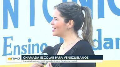 Último dia para a chamada escolar para venezuelanos - Interessados devem ir até a escola Antônio Ferreira.