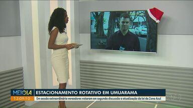 Vereadores de Umuarama autorizam implantação da Zona Azul - Projeto de lei será encaminhado para o prefeito.