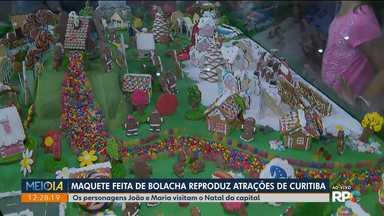 Pontos turísticos de Curitiba são reproduzidos em maquetes feitas de bolachas - A exposição foi montada no Bosque Alemão.
