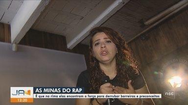 Grupo de mulheres consolida força feminina na cena musical através do rap - Grupo de mulheres consolida força feminina na cena musical através do rap