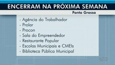 Órgãos públicos de Ponta Grossa suspendem atividades para festas de fim de ano - Agência do Trabalhador deixa de atender na sexta-feira (20).