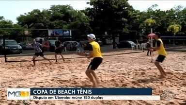 Com 180 duplas de várias cidades, Copa de Beach Tênis é realizada em Uberaba - Evento começou na sexta-feira (13) e vai até domingo (15).