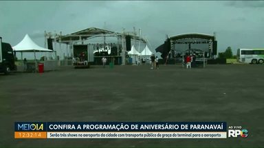 Confira a programação do aniversário de Paranavaí - Shows já começam na tarde deste sábado.