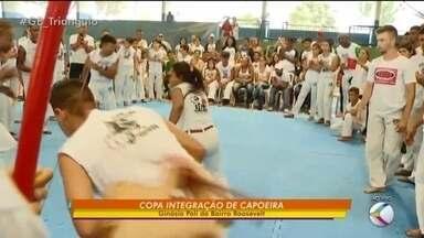 Capoeiristas de todo o Brasil participam da Copa Integração de Capoeira em Uberlândia - Evento reúne cerca de 100 atletas na cidade. Competição valoriza o jogo de capoeira