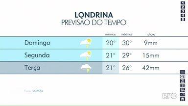 Final de semana será chuvoso em Londrina e região - Chuva não dá trégua, pelo menos, até terça.