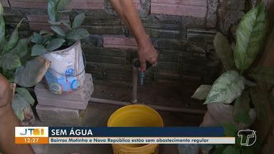 Moradores do bairro Nova República e Matinha estão sem abastecimento de água regular - Veja o que diz a Cosanpa.