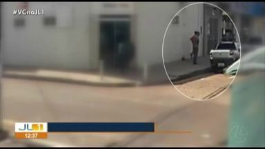 Câmera de segurança flagra furto de veículo em Marabá - Câmera de segurança flagra furto de veículo em Marabá