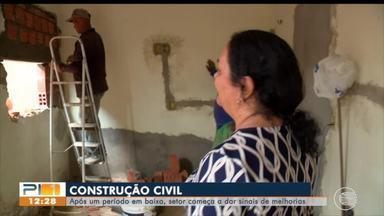 Setor da construção civil dá sinais de melhoria após período em baixa - Setor da construção civil dá sinais de melhoria após período em baixa