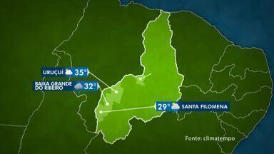 Confira a previsão do tempo para o interior do Piauí - Confira a previsão do tempo para o interior do Piauí