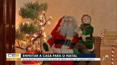 Pessoas usam a criatividade para enfeites natalinos - Saiba mais no g1.com.br/ce