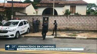 Campinas registra dois casos de feminicídio em menos de 24 horas - Casos aconteceram no Jardim Ouro Preto, na sexta-feira (13), e no distrito de Sousas, neste sábado (14).