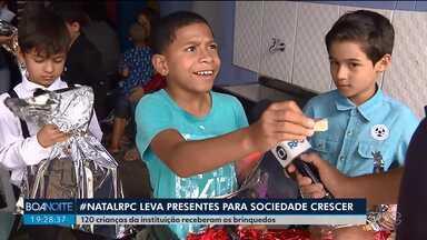 Crianças da Sociedade Crescer recebem brinquedos do #NatalRPC - Doações feitas por telespectadores fizeram a alegria de 120 crianças atendidas pela instituição.