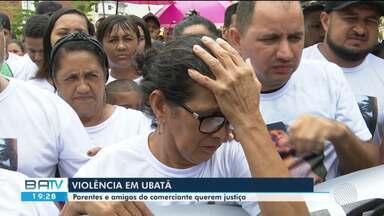 População de Ubatã protesta após morte de comerciante Danilo Ribeiro, baleado em festa - Na madrugada de sábado (13), a casa do suspeito de cometer o crime foi incendiada.