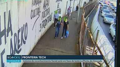 """Ponte da Amizade ganha equipamentos de reconhecimento facial - """"Fronteira Tech"""" deve usar inteligência artificial para combater crimes e identificar suspeitos."""
