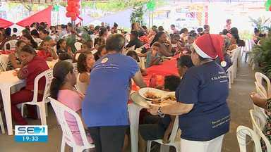 Católicos do Orlando Dantas participam de banquete solidário - Católicos do Orlando Dantas participam de banquete solidário.