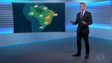 Veja a previsão do tempo para o domingo (15) - Não há previsão de chuva para Belo Horizonte. A partir da tarde, pode haver chuva com raios em vários trechos do país.