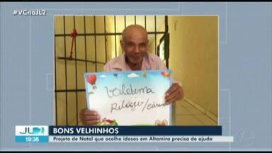 Projeto de natal acolhe idosos em Altamira - Projeto de natal acolhe idosos em Altamira