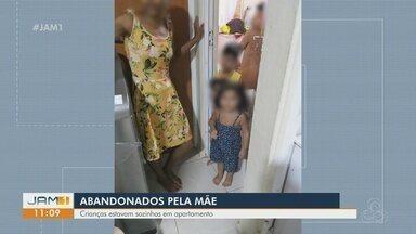 Crianças são resgatadas abandonadas dentro de apartamento, em Manaus - Crianças foram deixadas aos cuidados de adolescentes.