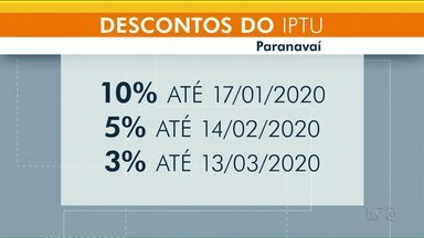 Moradores de Paranavaí começaram a receber boleto do IPTU - Pagamento com desconto de 10% pode ser feito até 17 de janeiro.