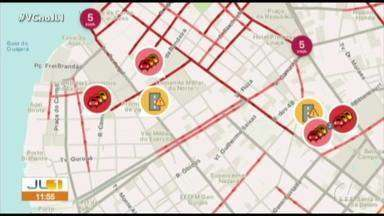 Veja os pontos de congestionamento em Belém no quadro 'Radar' - Veja os pontos de congestionamento em Belém no quadro 'Radar'