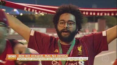 Liverpool joga a semifinal na quinta com Salah em boa fase e desfalque na zaga - Liverpool joga a semifinal na quinta com Salah em boa fase e desfalque na zaga