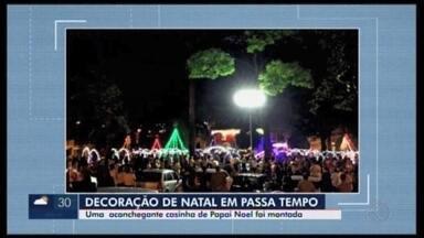 Natal oficialmente chega a Passa Tempo - Foi inaugurada na cidade a iluminação de Natal, que ainda contou com a chegada do Papai Noel.
