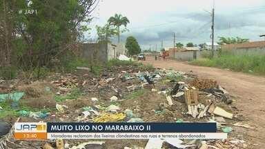 Moradores do bairro Marabaixo II convivem com lixeira nas ruas - Moradores do bairro Marabaixo II convivem com lixeira nas ruas