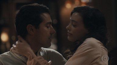 Natália insinua que deseja Almeida apenas para ela - Almeida comenta que pretende lutar para que os filhos passem mais tempo com ele