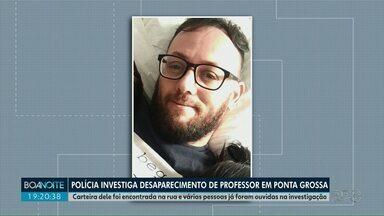 Polícia investiga desaparecimento de um professor em Ponta Grossa - Carteira dele foi encontrada na rua e várias pessoas já foram ouvidas na investigação. O professor está desaparecido desde domingo (15).