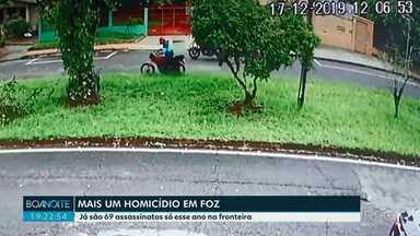 Homem de 29 anos é morto a tiros em Foz do Iguaçu - Já são 69 assassinatos só esse ano na fronteira.