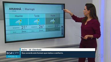 Chuva continua em Maringá nesta quarta-feira - Confira a previsão do tempo