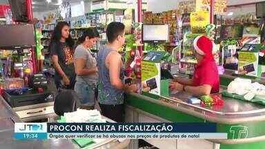Procon realiza fiscalizações em supermercados de Santarém - Órgão que evitar preços abusivos devidos as festa de fim de ano.
