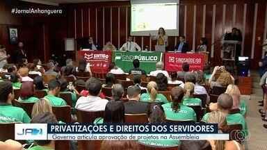 Governo articula aprovação de projetos na Assembleia em Goiás - Deputados voltaram a discutir temas polêmicos, como privatizações e direitos dos servidores.