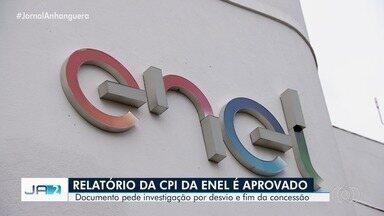 Relatório da CPI da Enel é aprovado na Assembleia Legislativa de Goiás - Documento pede investigação por desvio e fim da concessão.