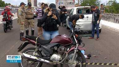 Motoboy morre em acidente de trânsito na Zona Sul de Aracaju - Motoboy morre em acidente de trânsito na Zona Sul de Aracaju.