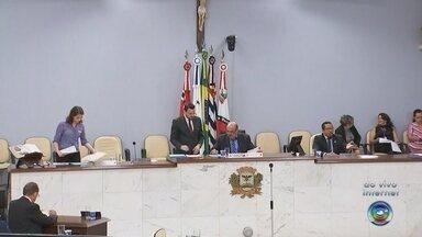 Vereadores votam projeto para reduzir número de cadeiras na câmara - Os vereadores de São José do Rio Preto (SP) estão votando nesta terça-feira (17) um projeto para reduzir número de cadeiras na câmara.