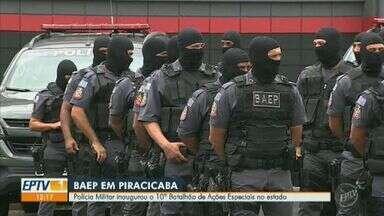 Polícia Militar inaugura 10º Batalhão de Ações Especiais do estado em Piracicaba - Inauguração aconteceu na manhã desta quinta-feira (19). Grupo de elite da PM vai atender 52 municípios.